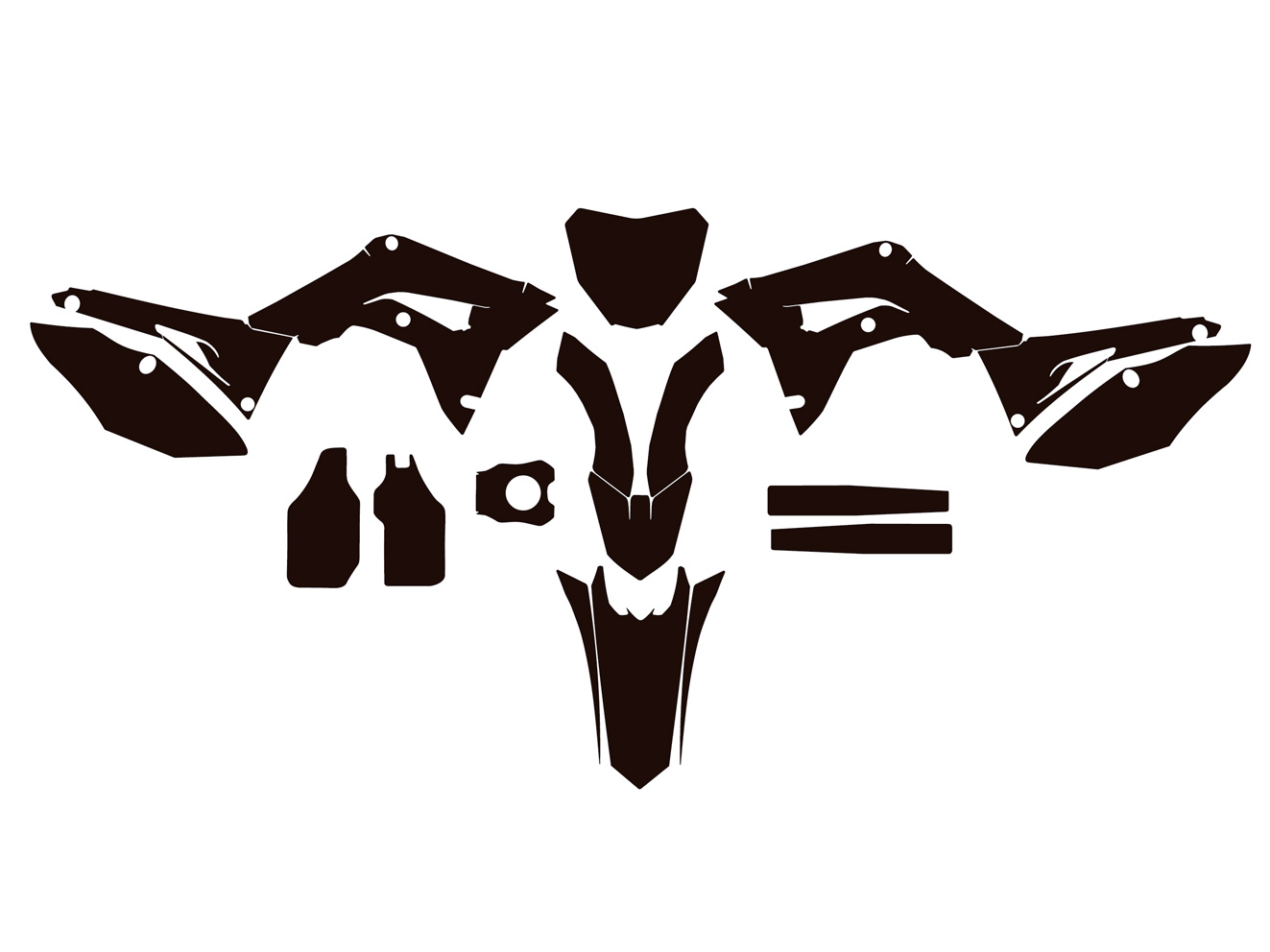 Honda CRF 450 mx motocross 2017 2018 Graphics Template vector EPS